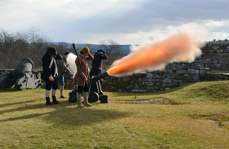 """The Noble Train Begins"" Living History Event takes place at Fort Ticonderoga on Saturday December 5, 2015 from 10 am – 4 pm. (Credit: Fort Ticonderoga)"