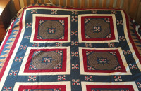 Queen-size Hmong quilt (Credit: Essex Library)
