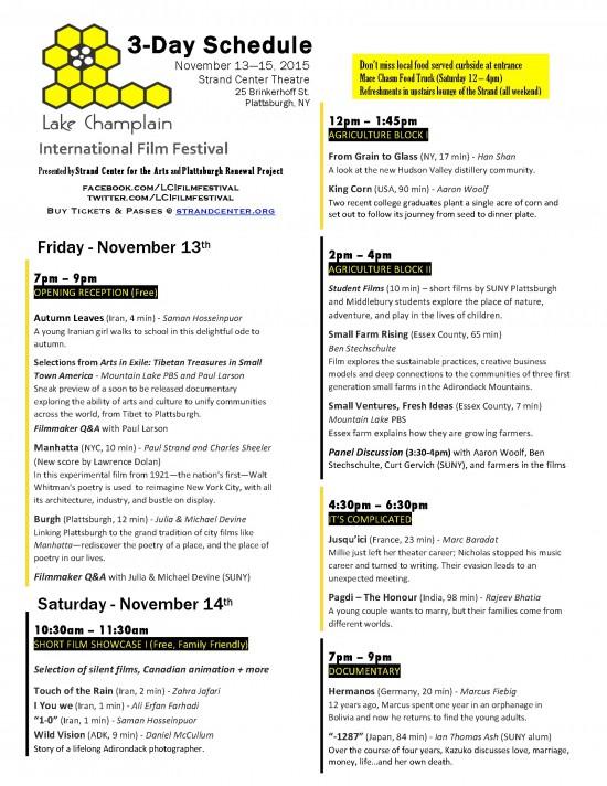 2015 Lake Champlain International Film Festival Schedule (1)