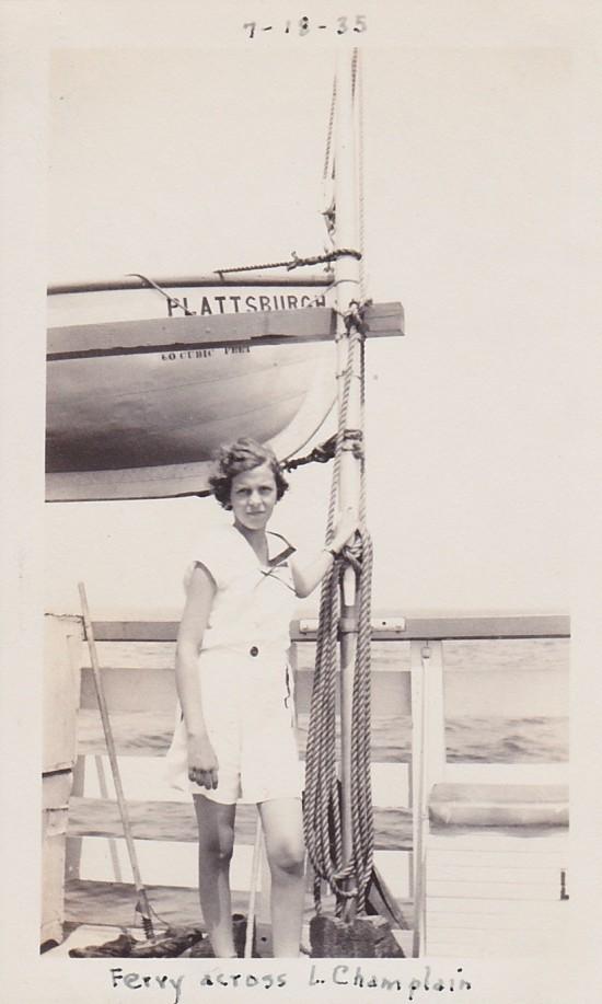 Girl on Plattsburgh Ferry
