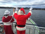 The Magic of Christmas in Essex 2015: Santa & Mrs. Claus travel by ferry to Essex