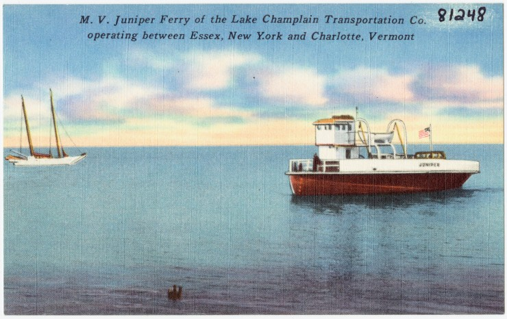 M.V. Juniper Ferry of the Lake Champlain Transportation Co. operating between Essex, New York and Charlotte, Vermont