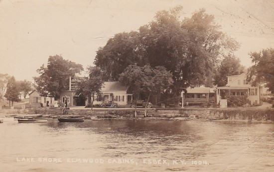 Vintage Photo: Lake Shore, Elmwood Cabins, Essex, NY