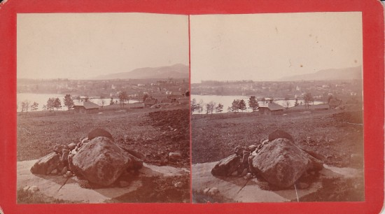 Vintage Stereoview: View of Essex, NY