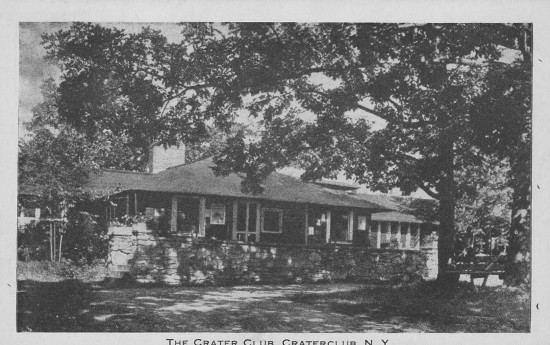 Vintage Postcard: Crater Club (Credit: The Eagle Post Card View Co. NY)