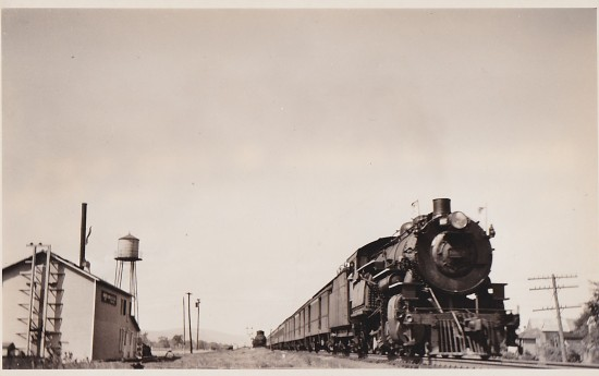 Vintage Train Postcard-Front
