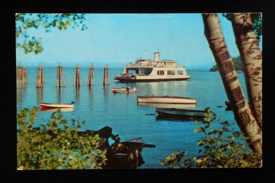 1950s MV Adirondack Ferry at Port Kent - FRONT