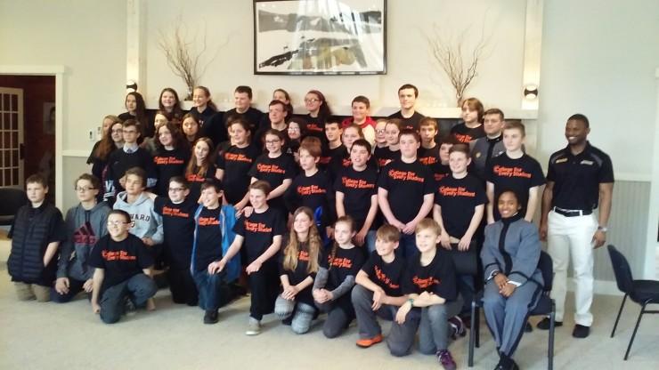 CFES-West Point Robotics Workshop in Essex, NY: Student Participants & Instructors (Credit: Katie Shepard)