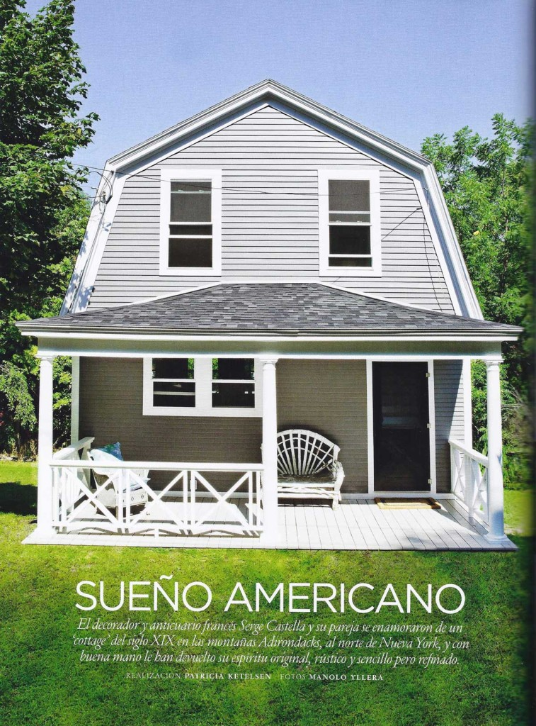 """Architectural Digest, July/August 2013 (Spanish Edition) - Article: """"Sueño Americano"""" (""""American Dream"""") - Page 1"""