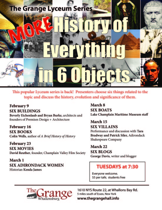 Winter Lyceum Flyer 2016 - More History of Everything in Six Objects