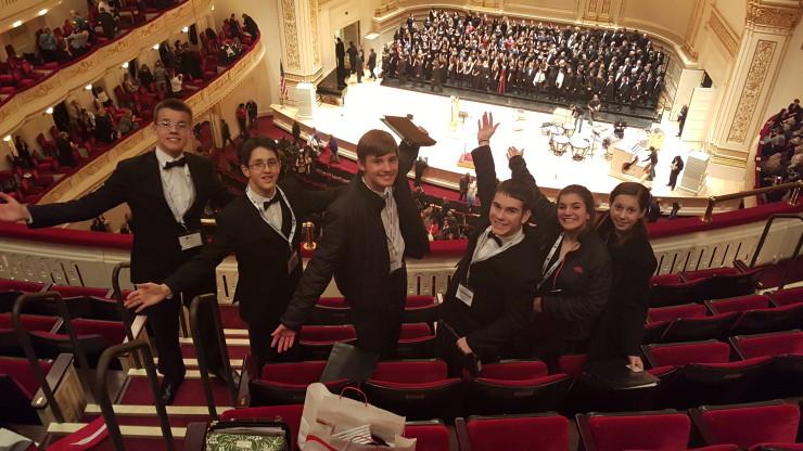 Willsboro Students on Carnegie Hall Trip (Credit: Jennifer Moore)