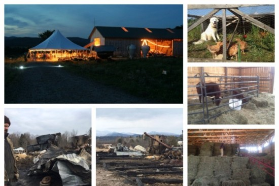 Reber Rock Farm Barn Before and After Fire