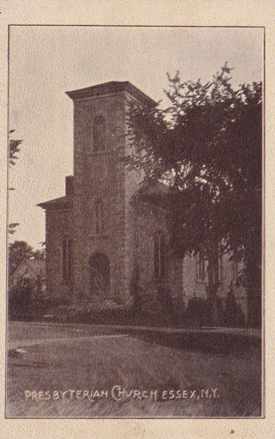 Vintage Postcard: Presbyterian Church, Essex, NY (Credit: W.H. Cruikshank)