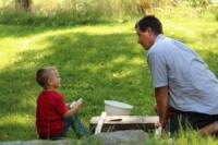 Gregg doing woodwork at Lakeside