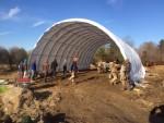 Reber Rock Farm Temporary Barn (Source: Tom Duca)