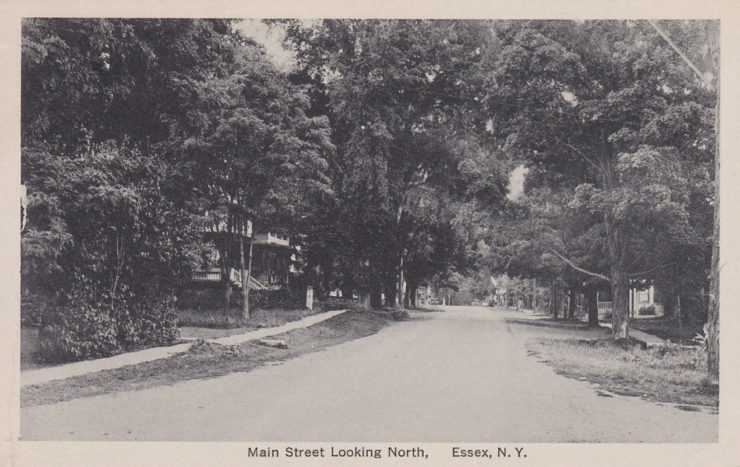 Vintage Postcard: Main Street Looking North, Essex, NY