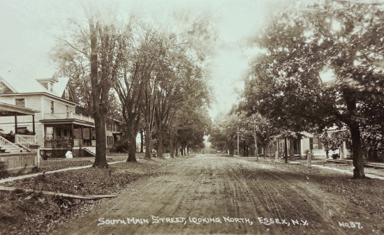 Vintage Photo: South Main Street, Looking North, Essex, NY (Credit: Unknown)
