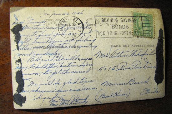 Vintage Postcard: Split Rock Lighthouse - back