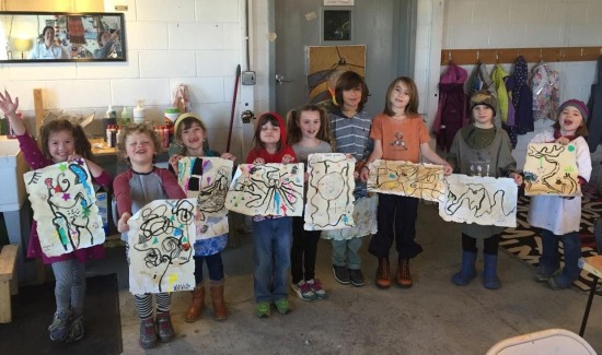 On March 19 a group of young hikers met at the Erin Hall Studio in Westport to Design their own Dream Trail.