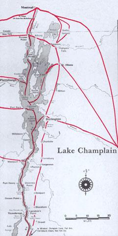 Underground Railroad Champlain Line Routes
