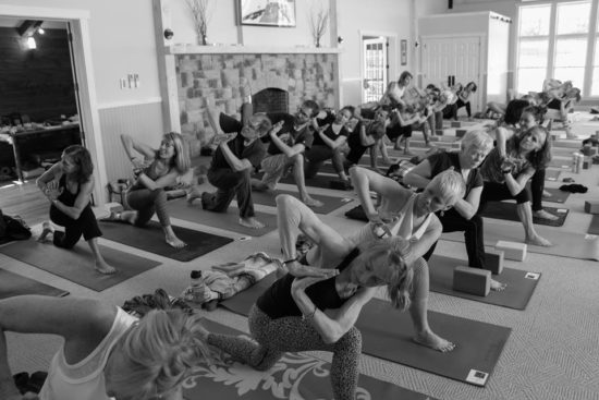 Yoga Wellness Weekend with Todd Norian - Group Practicing Yoga (Credit: ZVD Photography)