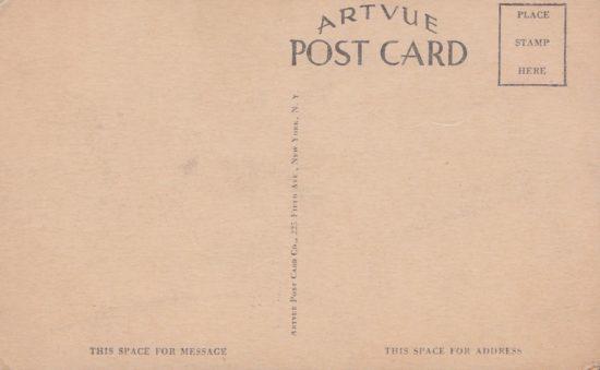 Vintage Postcard: Hillcrest Cabins - back