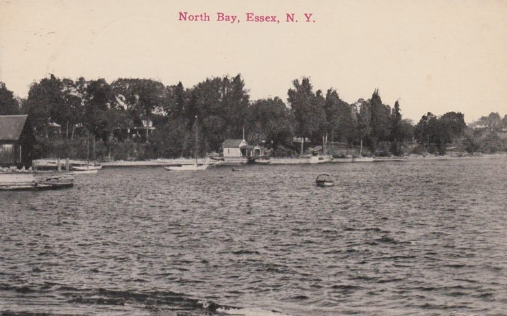 Vintage Postcard: North Bay, Essex, NY