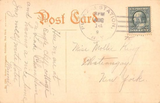 Steamer Chateaugay Postcard Back