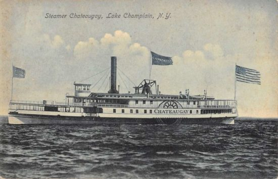 Vintage Postcard: Steamer Chateaugay, Lake Champain, NY