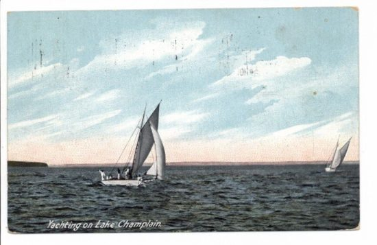 Yachting on Lake Champlain circa 1909 - front