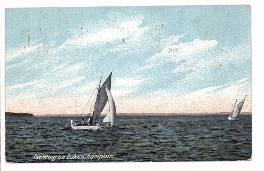 Yachting on Lake Champlain circa 1909 - front