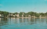 Vintage Postcard: View of Essex from Lake Champlain - front