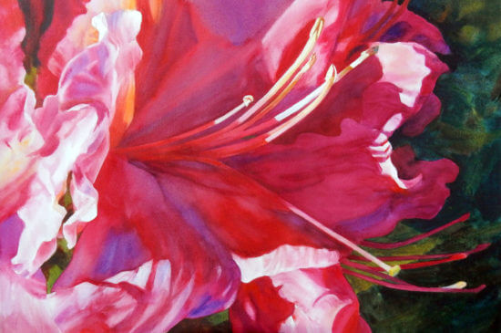 """Audacious Azalea"" Watercolor Painting by Ann Pember"