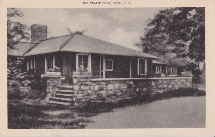Crater Club Postcard - Front