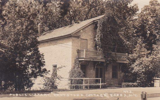 Vintage Postcard: Public Library, Greystone Cottage, Essex, NY