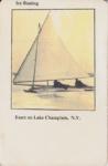 Vintage Postcard: Ice Boating