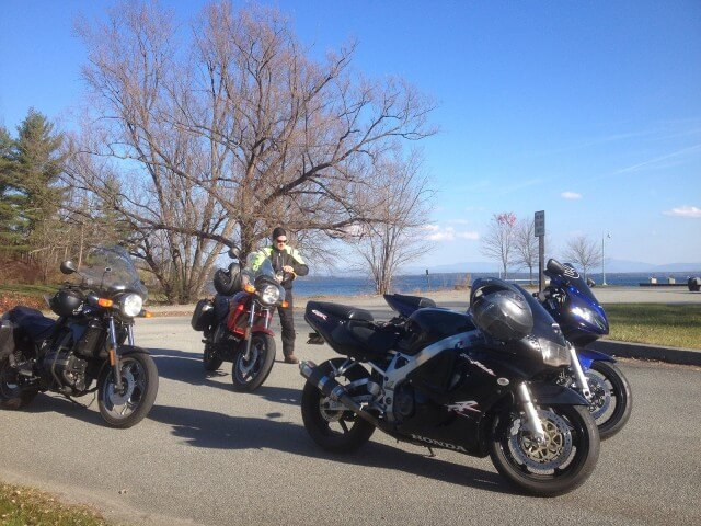 Taking a break at the Westport Boat Launch (Credit: Kim Rielly)
