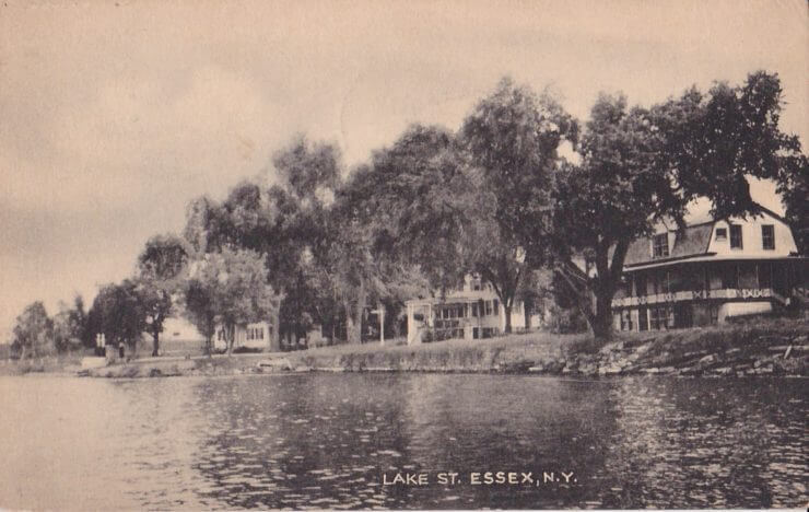 Vintage Postcard: Lake Street, Essex, NY