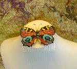 Peacock Butterly Haircomb