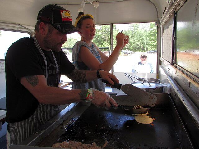 Josh Zack and Sarah King run Poco Más Tacos, a staple on the local food scene.( Credit: Pete DeMola)