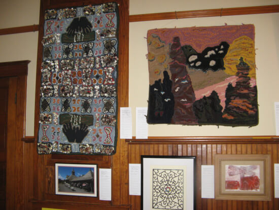 One of the rugs on display created by Cheryl Raywood Credit: Dee Carroll)