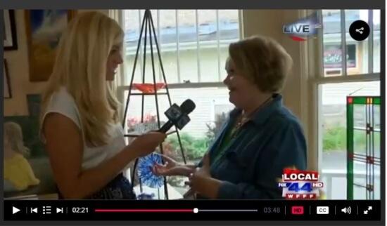 MyChamplainValley (ABC 22/FOX 44) morning reporter Alaina Pinto interviewed Helen Goetz at the Adirondack Art Association on June 9, 2016.