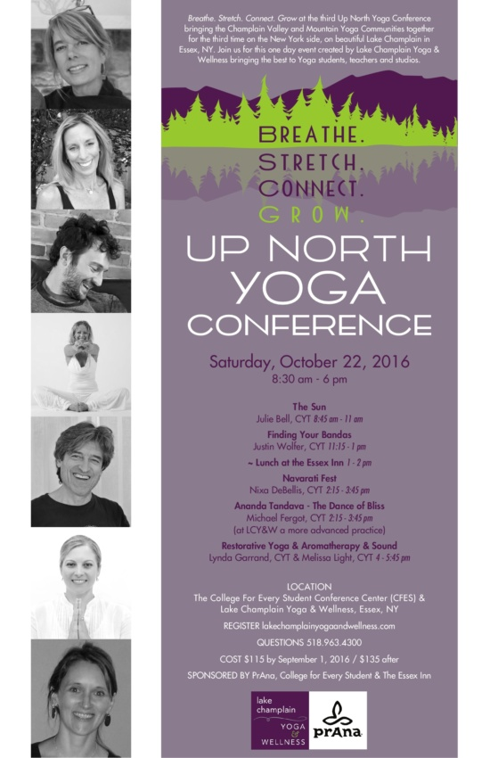 Up North Yoga Conference 2016 Poster