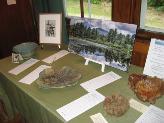 The Spirit of Place Art Exhibition features a variety of artwork on display at the Westport Heritage House. Credit: Dee Carroll)