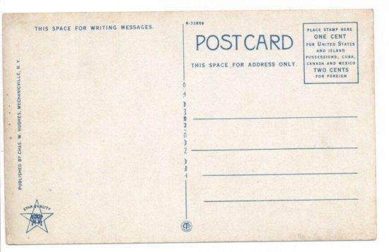 Vintage Postcard: Champlain Statue in Plattsburg- back