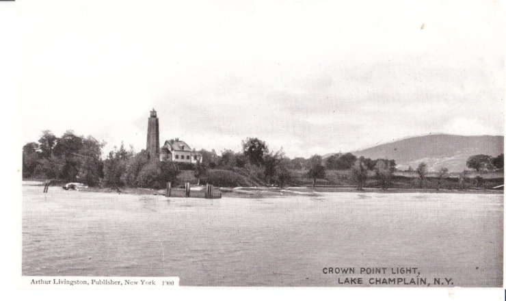 Vintage Postcard: Crown Point Lighthouse