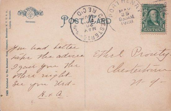 Vintage Postcard: Steamer Chateaugay (back)