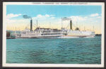 Vintage Postcard: Steamer Ticonderoga and Vermont