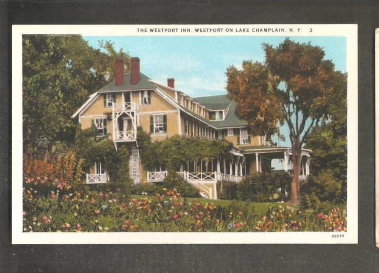 Vintage Postcard: The Westport Inn, Westport on Lake Champlain, NY