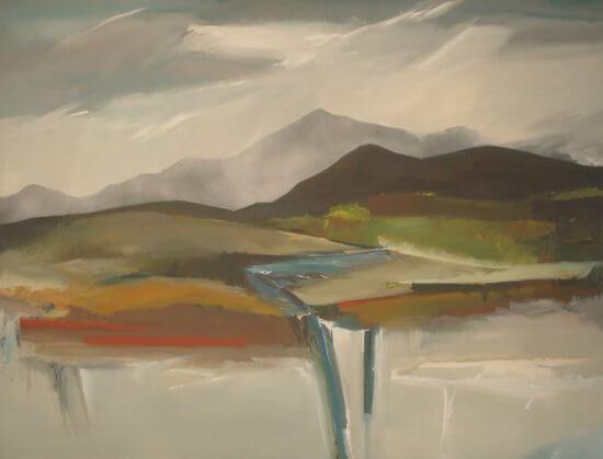 "William Crosby, ""Watercolor II,"" Acrylic Painting."